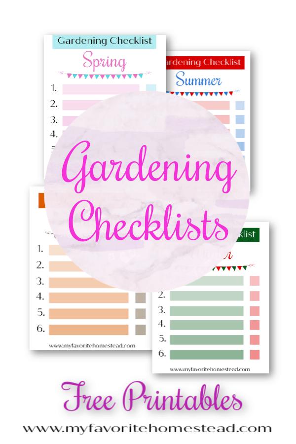 Free garden checklist printables