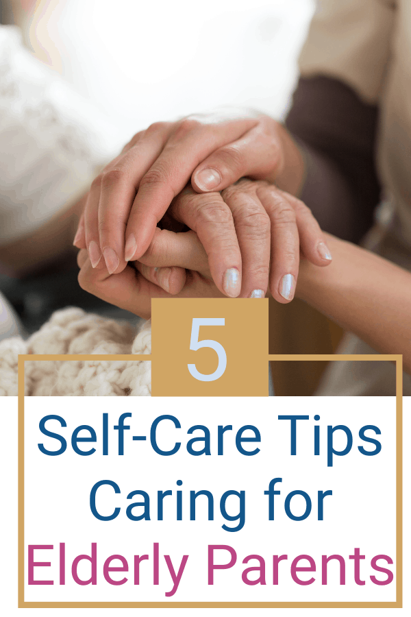 Are you burnt out caring for your aging parents? If anyone needs self-care, you do! Take care of yourself so can care for your elderly parents. Check out this post for some self-care tips and ideas. #agingparents #elderly #aginginplace