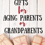 Don't know what gift to get your senior loved one or elderly parent? Check out this post for a list of inexpensive gifts for senior citizens and get them something they are sure to love! #seniorcitizens #agingparents #elderly