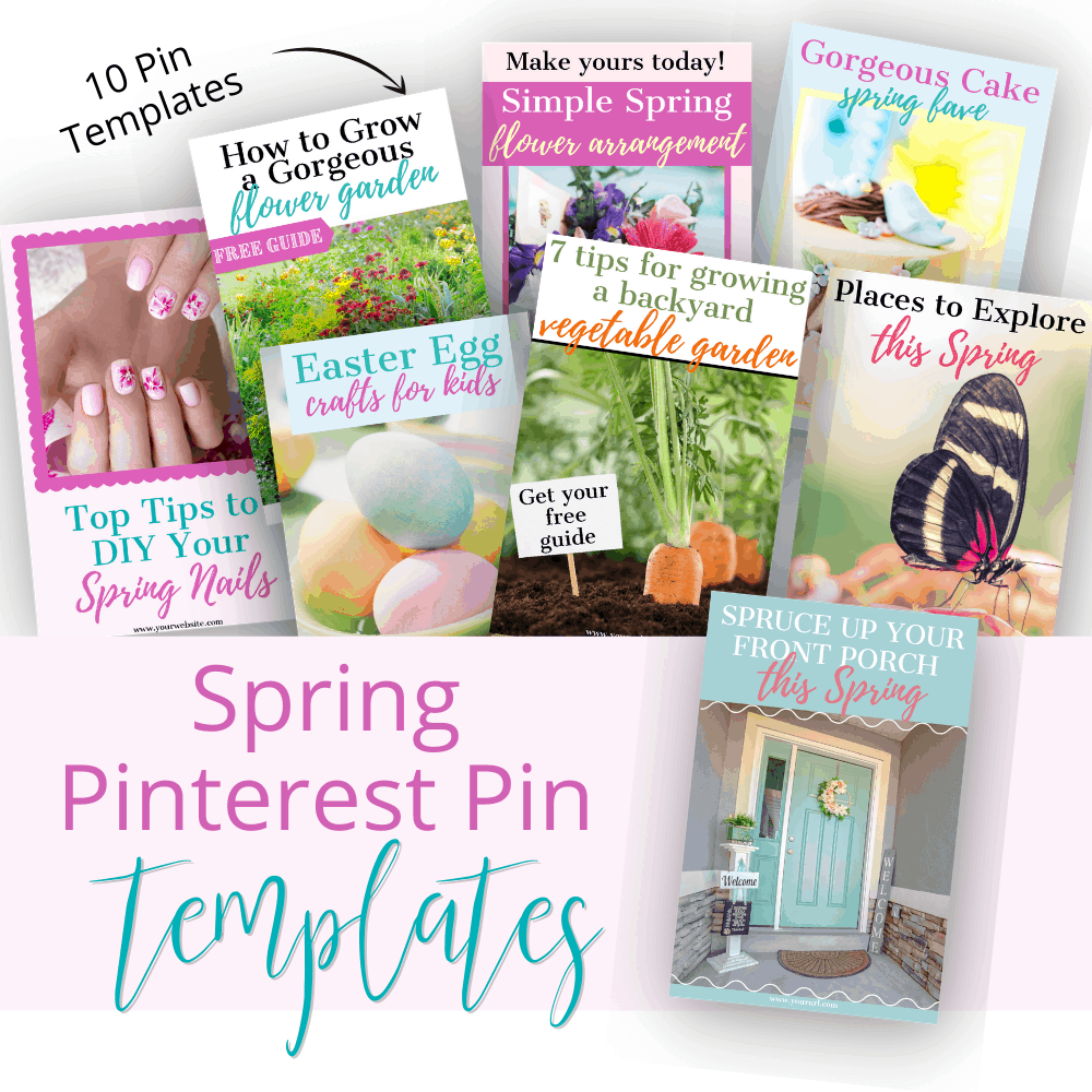 Spring Canva Pint Templates Mockup